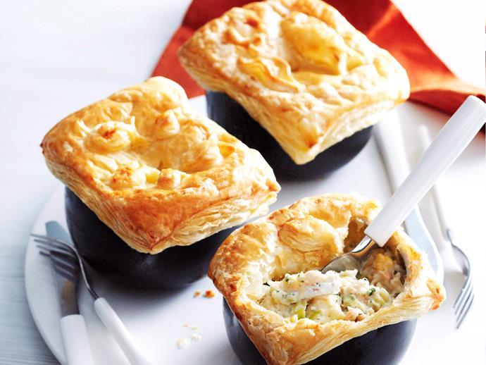 "**[Fish pies](https://www.womensweeklyfood.com.au/recipes/fish-pies-25499|target=""_blank"")**"