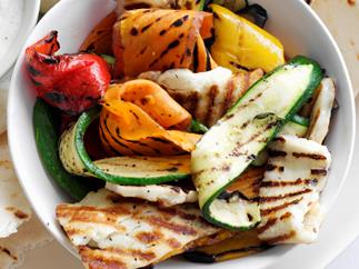GRILLED VEGETABLE AND HALOUMI WRAPS