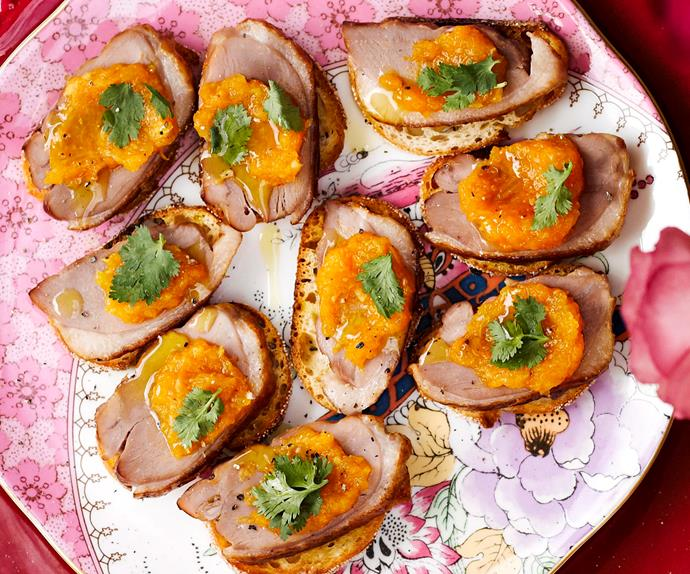 Smoked duck breast and mandarin relish