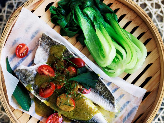 "[Vietnamese-style steamed whiting](http://www.womensweeklyfood.com.au/recipes/vietnamese-style-steamed-whiting-10037|target=""_blank"")  This fragrant, nutritious meal is a beautiful way to enjoy fresh fish."
