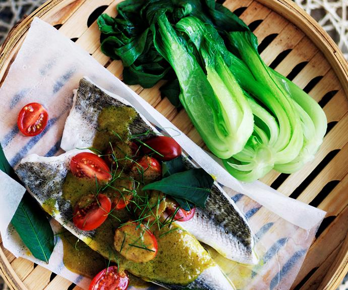 Vietnamese-style steamed whiting