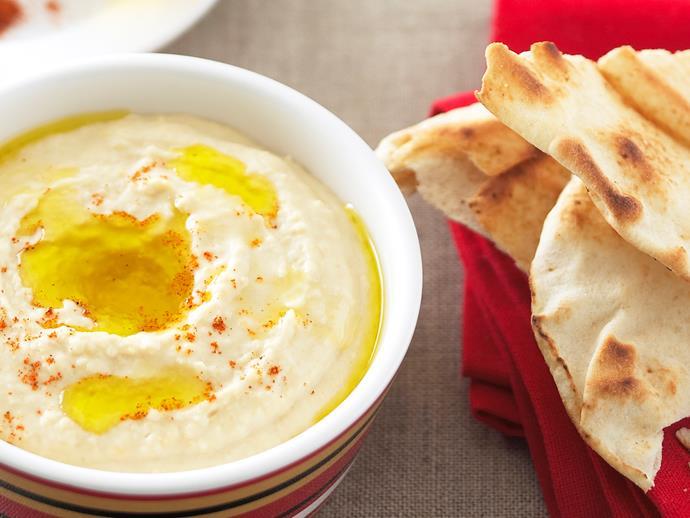 "[Hummus](https://www.womensweeklyfood.com.au/recipes/hummus-9385|target=""_blank"")"