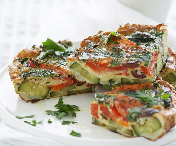 Zucchini and Tomato Frittata