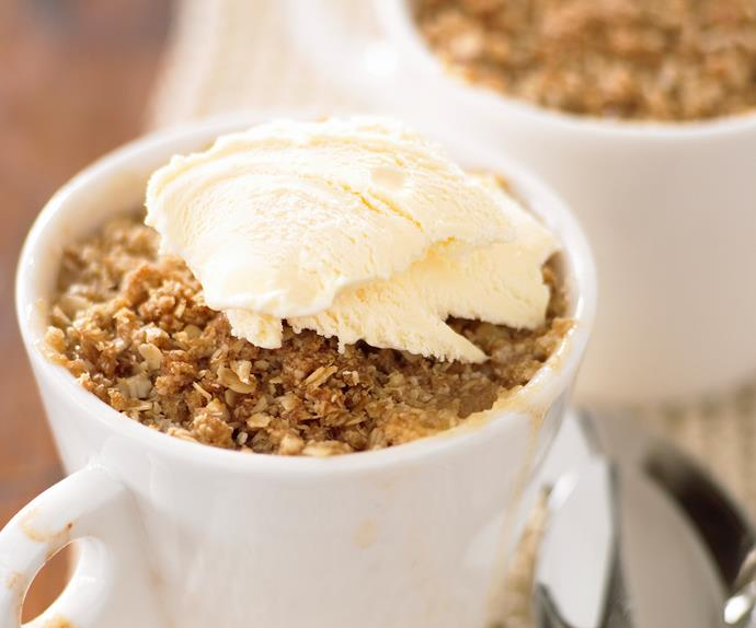 Pear and Ginger Oat Crumble