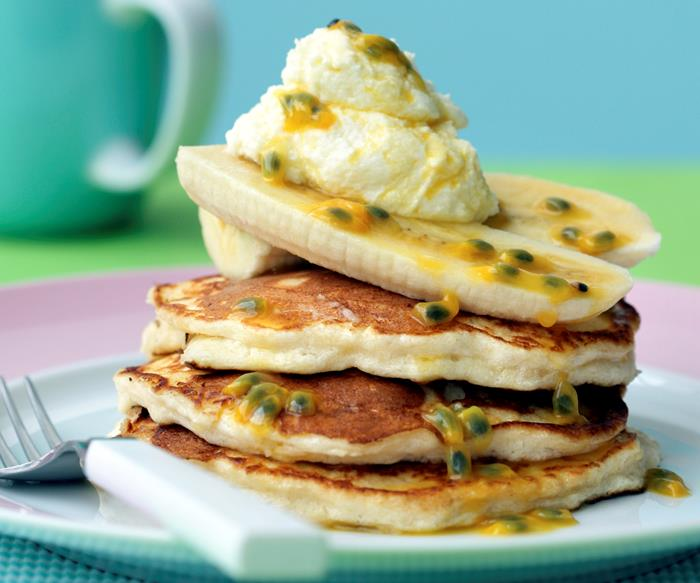 Ricotta Cakes with Passionfruit