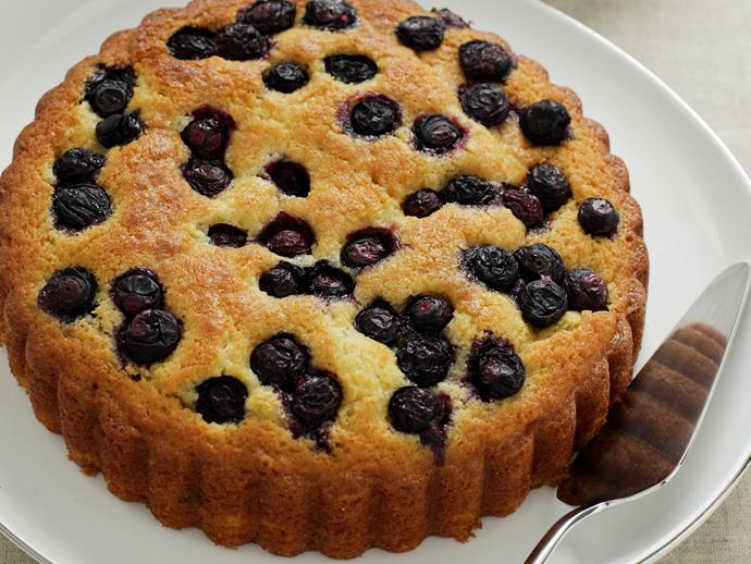 """Golden, moist and wonderfully sweet, cut yourself a thick slice of this beautiful [orange and blueberry cake](https://www.womensweeklyfood.com.au/recipes/orange-and-blueberry-cake-27975