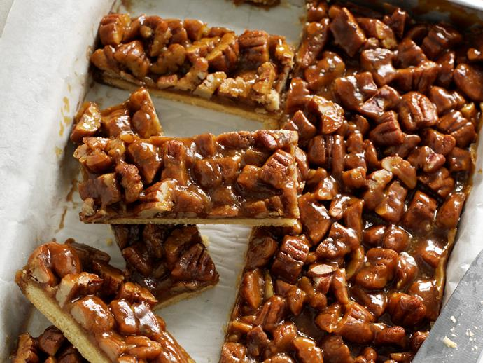 """**[Pecan caramel slice](https://www.womensweeklyfood.com.au/recipes/pecan-caramel-slice-25655