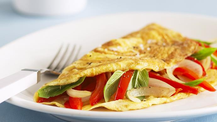 Capsicum and Tomato Omelettes