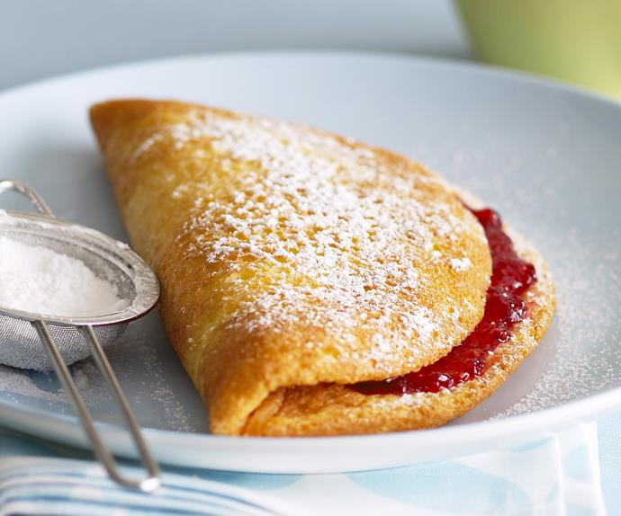 Fluffy Jam Omelette