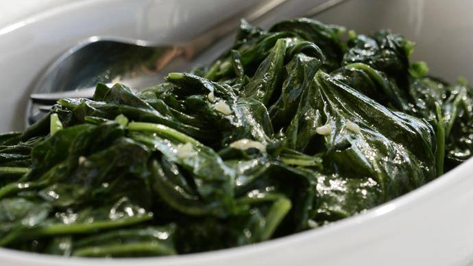 Spinach With Garlic and Lemon