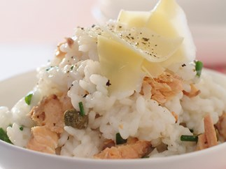 Salmon and Chive Risotto