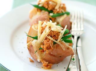 Tuna and Green Bean Stuffed Potatoes