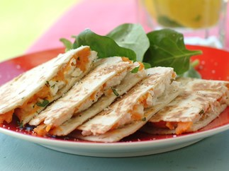 Spiced Kumara Quesadillas