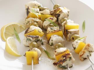 Easy Fish kebabs