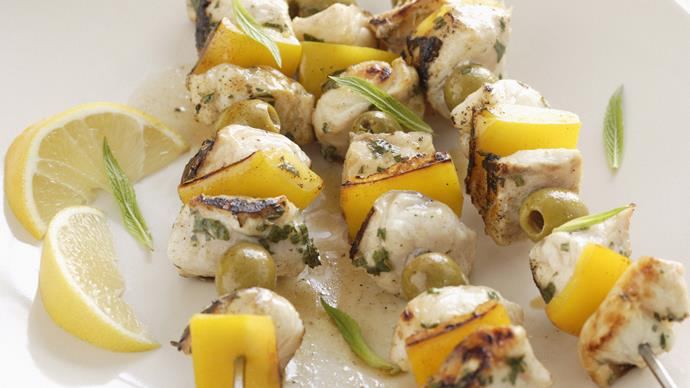 Easy Fish kebabs