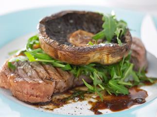 Porterhouse Steak with Mushrooms