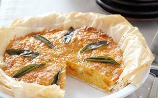 Pumpkin and sage pie