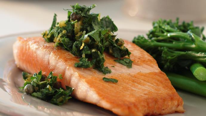 Salsa Verde with Salmon