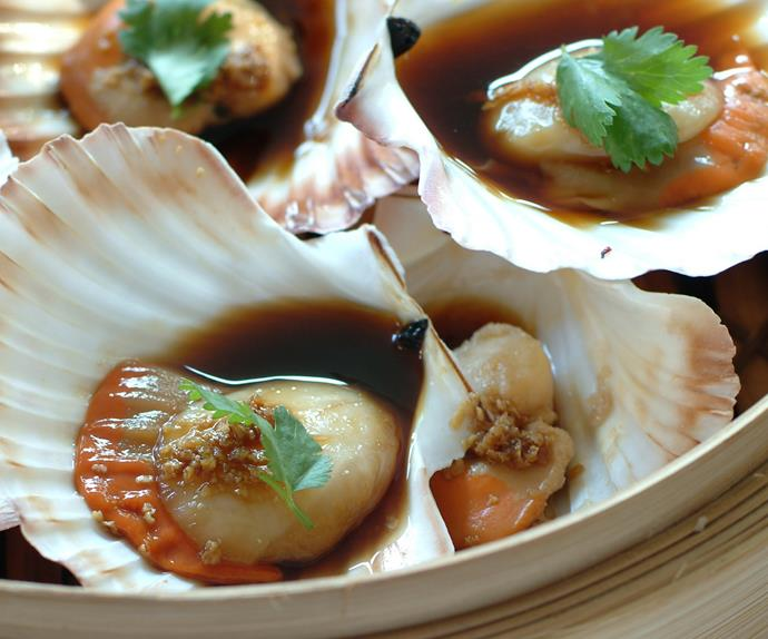 Steamed Scallops with Ginger