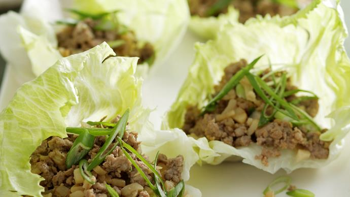 Pork and Lemongrass Lettuce Cups