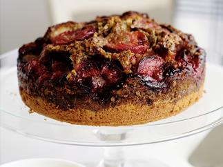 Plum and Pistachio Cake