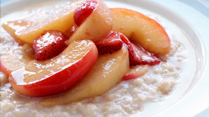 Porridge with Saut'ed Fruit