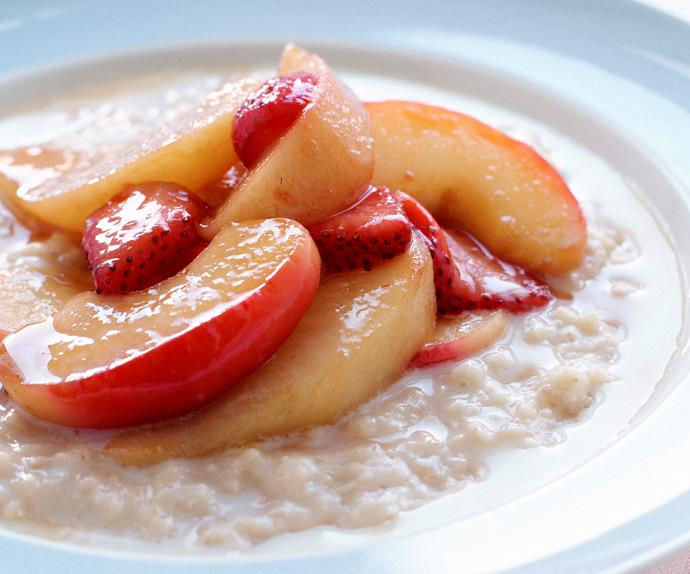 Porridge with Saut'ed Fruit