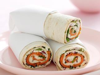Kumara, Fetta and Mint Wrap