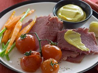 Corned Beef with Truss Tomatoes
