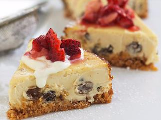 Low-Fat Honey and Sultana Cheesecake