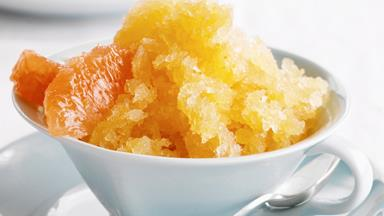Ruby grapefruit granita