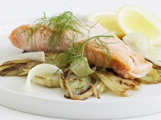 Salmon with Braised Fennel