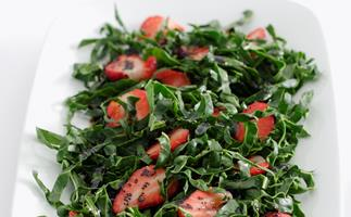 Silverbeet and Strawberry Salad