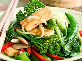 Tofu and Mixed Vegetables