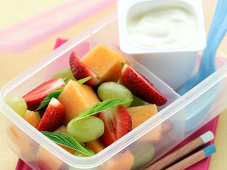 Minted Fruit Salad and Yogurt