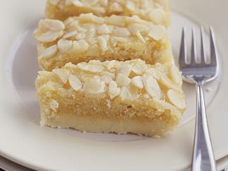 Almond Slice with Apricot Glaze