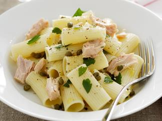 Rigatoni with Tuna, Lemon and Capers