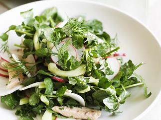 Radish, Smoked Trout and Watercress Salad