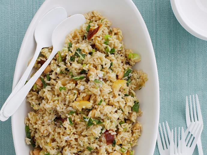 """**[Moroccan rice salad](https://www.womensweeklyfood.com.au/recipes/moroccan-rice-salad-26990