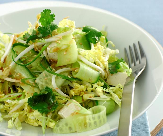 Asian Cucumber and Cabbage Salad