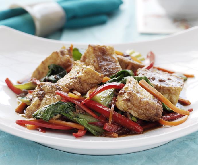 Braised Tofu with Vegetables