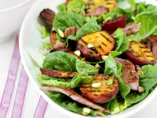 Six Ways With Ham - Grilled ham and peach salad