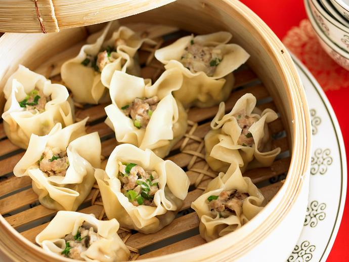 """**[Steamed pork dim sims](https://www.womensweeklyfood.com.au/recipes/steamed-pork-dim-sims-24460