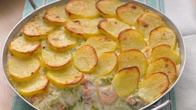 Fish and potato pie