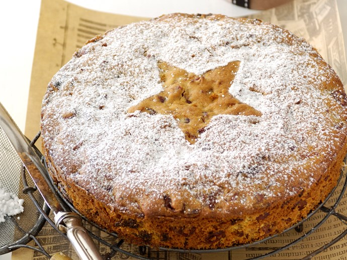 Gluten-free cranberry and apricot cake