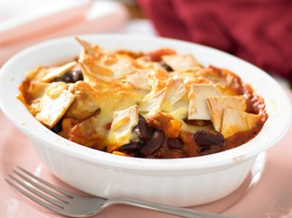 Mexican chicken and bean pot pies