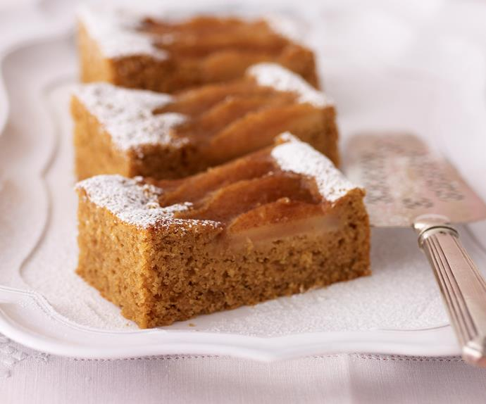 Pear and ginger slice