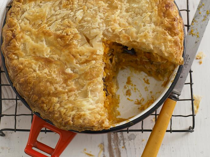 "Perfect for a picnic, this [pumpkin and tuna pie](https://www.womensweeklyfood.com.au/recipes/pumpkin-and-tuna-pie-27398|target=""_blank"") is quick and hearty."