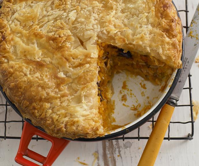 Pumpkin and tuna pie