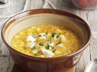 Rice and Potato Fish Soup